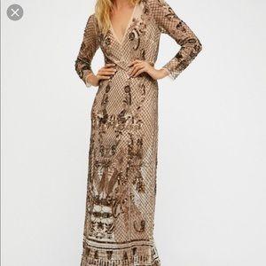 Art Deco embellished maxi dress